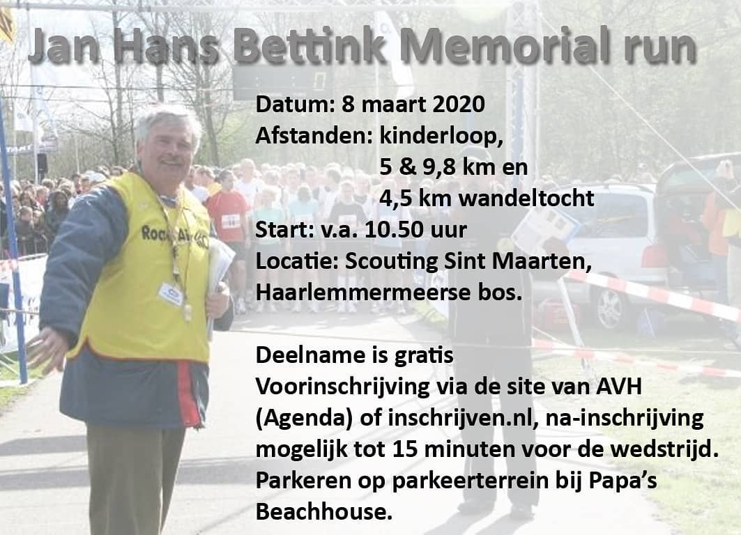 Jan Hans Bettink Memorial Run